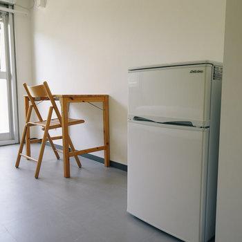 冷蔵庫もついてます!