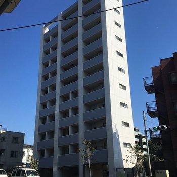 外観はこちら。11階建てです。