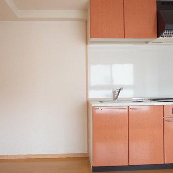 キッチン可愛い!(※写真は同じ間取りの9階のお部屋です。)