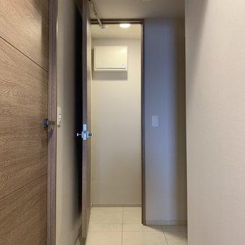 玄関周りもゆったりです。※写真は4階の同間取り別部屋のものです