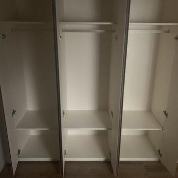 【S】収納は1人に1個でもいいですね。※写真は4階の同間取り別部屋のものです。