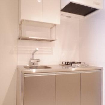 ステンレスキッチンカッコいい◎※写真は1階の同間取り別部屋のものです