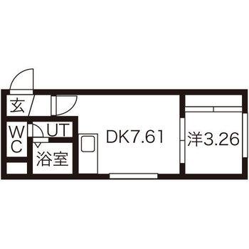 1DKのお部屋です!