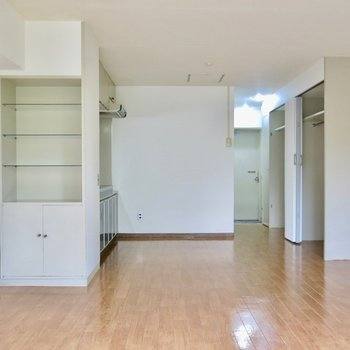 こちらから見ると広さがわかります※写真は同間取り別部屋のものです。