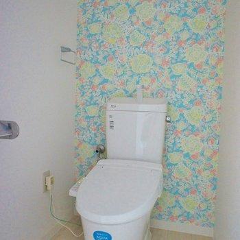パッと可愛いトイレに