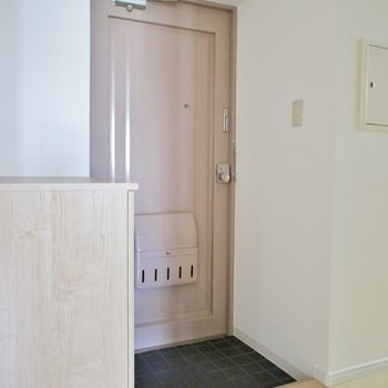 玄関ドアは昭和感があります