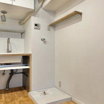 【LDK】洗濯機置き場はこちらにあります。