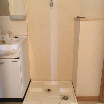 洗濯機置き場は脱衣所に。※写真は前回募集時のものです