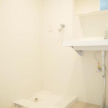 洗濯機派脱衣スペースに。※写真は2階の似た間取り別部屋です。