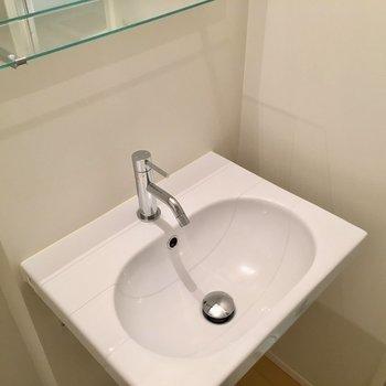 ぴかぴか洗面台※写真は同じ間取りのNo.7のお部屋です