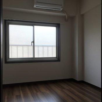 4.5帖の洋室がこんな感じ。寝室か物置か作業部屋ですかね。