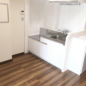 キッチンスペースは広いね。