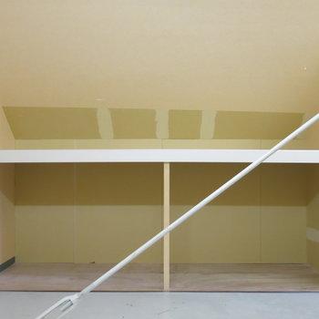 ここまで大きな収納があればお部屋も広く使えていいですね!(※写真はクリーニング前のもの)