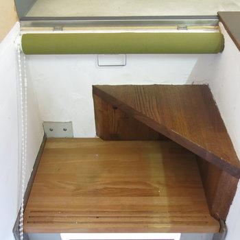 階段にはロールスクリーンもついてます!(※写真はクリーニング前のもの)