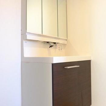 スタイリッシュでかっこいい洗面台(※写真は3階の同間取り別部屋のものです)