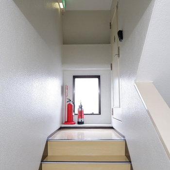 共用部。4階には1部屋のみ!