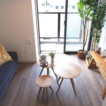 家具置いてもまだゆとりがありますね。※写真は同間取り7階のお部屋です