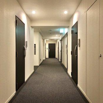 こちらが10階の廊下。