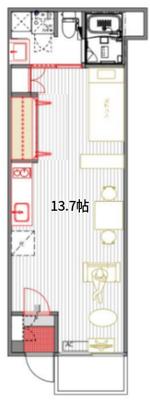 TOMOS 窓際のフィーカタイムの間取り図