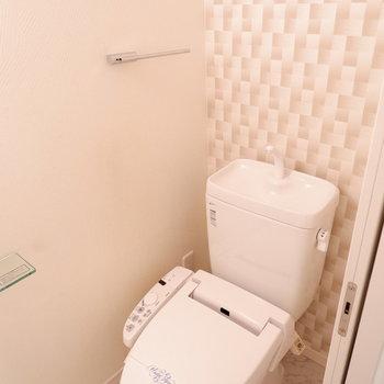 トイレの壁紙可愛い♪