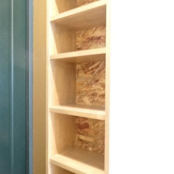 シューズボックスは扉ありませんよ。※写真は以前工事したお部屋です。