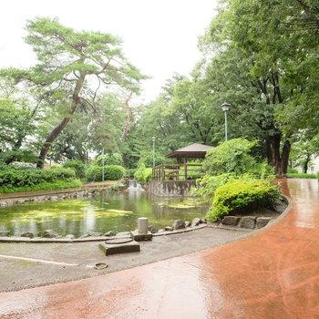 すぐ近くに、映画「言の葉の庭」に出てきそうな公園が!※写真は前回募集時のものです