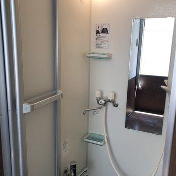 足湯もできるシャワールーム。