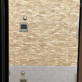 眺望は、遠目に隣の建物の壁。