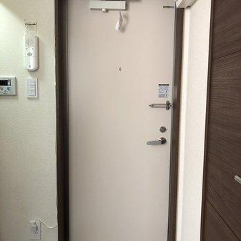 すっきりしている玄関。