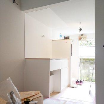 【工事中】キッチンは土台が完成しておりました!わーい!