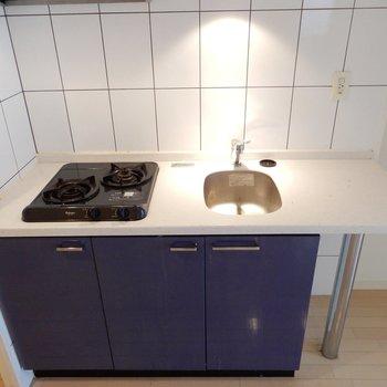 キッチンは2口コンロ
