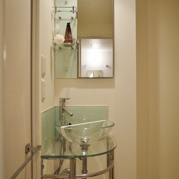 cafe風のオシャレな洗面台♪。※写真は類似間取り別部屋のものです