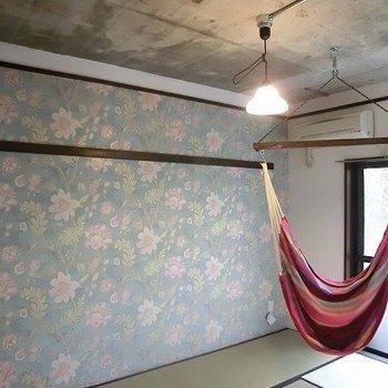 和室にハンモック!しかも天井はコンクリート!※写真は前回募集時のものです