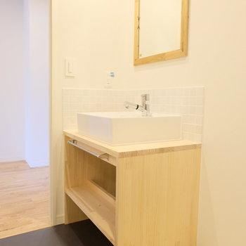 【イメージ】かわいい造作洗面台ができます!