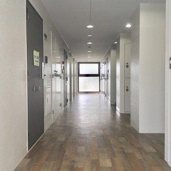 共用廊下も明るく清潔感がありますね!