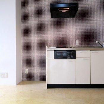 キッチンの壁もかわいい