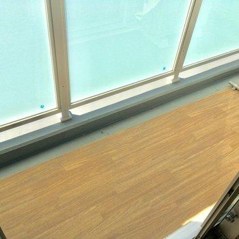 こちらはもう1つのバルコニー。洗濯物はこちらで!※写真は4階同じ間取りの別部屋