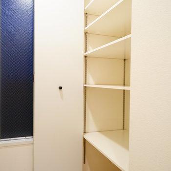 下駄箱も大容量!  ※写真は4階の同間取りのお部屋です。