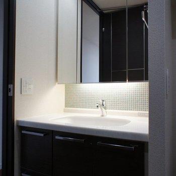 洗面、ホテル感※7階別部屋同間取りの写真です。