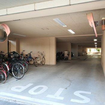 駐輪場も、駐車場も広々とあるのはこの付近の特権ですね!