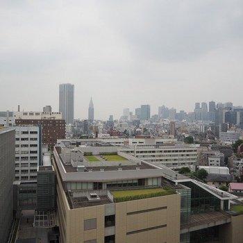 新宿を一望!※写真は13階別部屋反転間取りです。