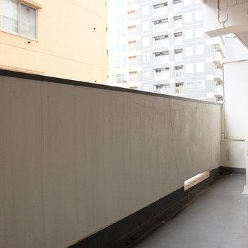 バルコニーもやっぱり広い!※写真は9階の似た間取り別部屋のものです