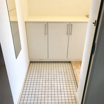 床のタイル、これがかわいい!
