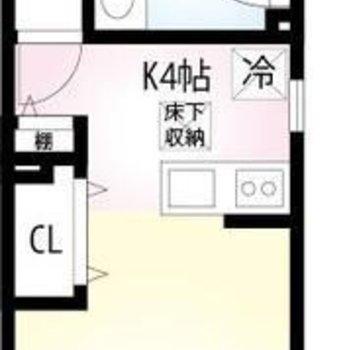 11帖の広々洋室