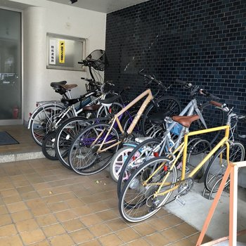 大事な自転車を保管