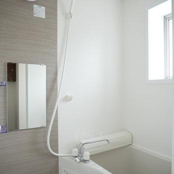 浴室。落ち着いた配色