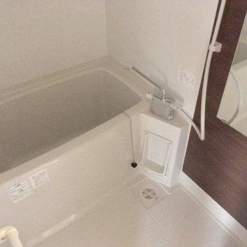 バスルームはこちら。シンプルが1番!※4階別部屋反転間取りの写真です。