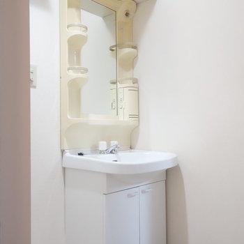 独立洗面台は脱衣所に。