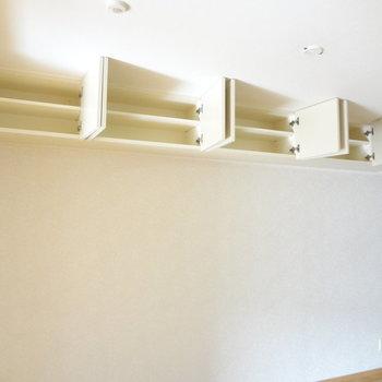 こんなところにまで収納スペースが!※写真は4階の反転間取り別部屋のものです