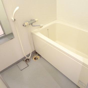 お風呂もゆったりできそう。※写真は4階の反転間取り別部屋のものです